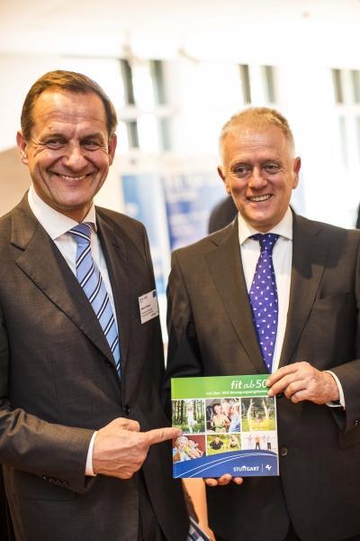 Alfons Hörmann (links) und OB Fritz Kuhn (rechts) eröffnen 'Fit for Life'-Kongress Foto: Leif Piechowski/Stadt Stuttgart